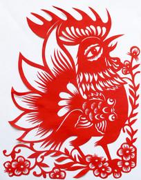 鸡年剪纸吉祥图案