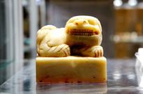 清代石雕狮钮满汉文道教大方章