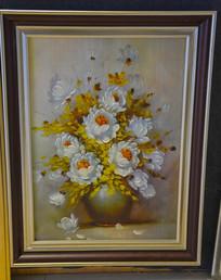 立体油画白菊花