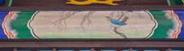 屋檐绘画鸟语