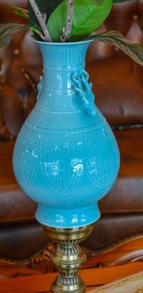 装饰工艺品龙环陶瓷花瓶