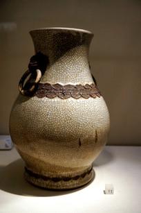 民国时期碎瓷堆花花瓶