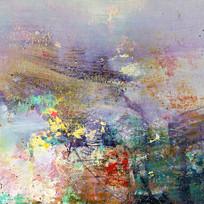 抽象油画壁画背景墙