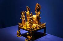 鎏金铜雕董钦造阿弥陀佛像