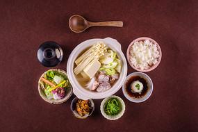 白米饭蔬菜