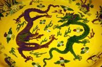 黄绿双龙图