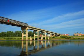 呼伦贝尔室韦中俄界河大桥