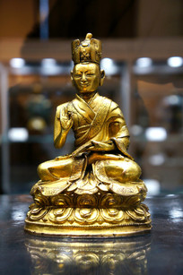 17世纪铜鎏金大宝法王像