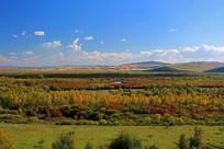 根河湿地秋季风光