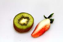 猕猴桃草莓水果特写