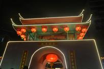 鸡年广州西湖花市灯展夜景