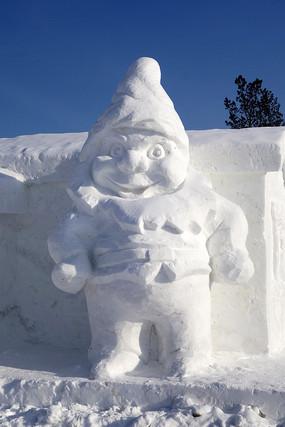 民间艺术雪雕圣诞老人