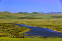 草原湿地河流