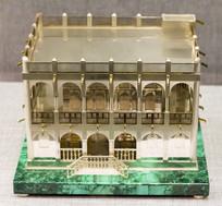 鍍金銀傳統建筑模型