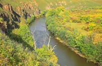 河湾湿地秋景