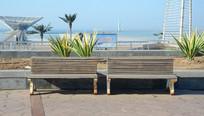 海边风景座椅