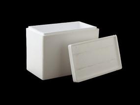 黑背景上的泡沫包装盒子