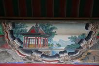 颐和园长廊彩绘画古代建筑