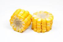 白背景上的玉米