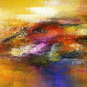 抽象油画 壁画 背景墙 玄关画 端景画
