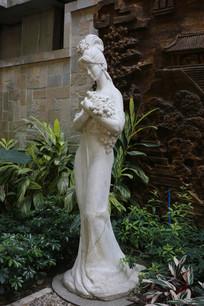 古代美女雕塑