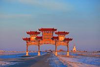 甘珠尔庙景区大门