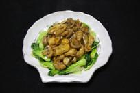 家常菜蘑菇青菜