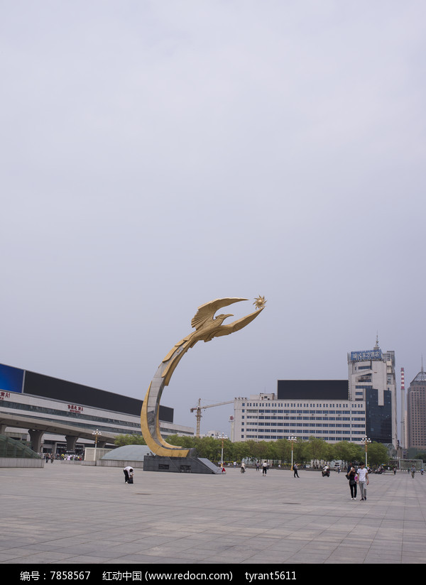 沈阳的象征太阳鸟雕塑图片