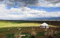 草原风景画