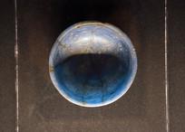 东汉深蓝色玻璃杯