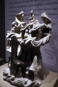 东汉时期佛像飞天雕件