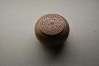 玉成窑兰花围棋紫砂罐