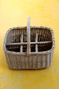 老物件方条篮子
