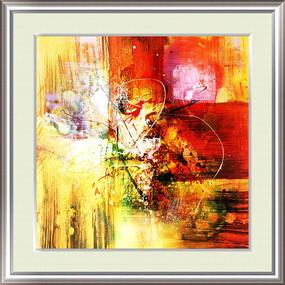 高清抽象油画图 打印喷绘写真抽象油画图片素材
