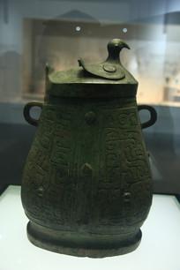西周青铜鸟盖壶
