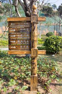 公园木质指示牌