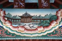 古建彩绘长廊凉亭