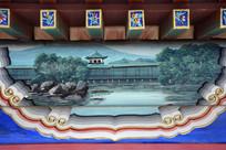 古建彩绘风景图