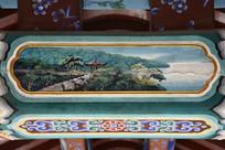 古建彩绘湖光凉亭
