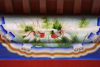 古建彩绘金鱼图