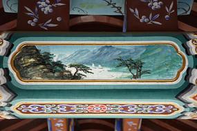 古建彩绘山水风景