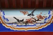 古建彩绘双喜鹊