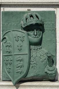 欧洲骑士浮雕