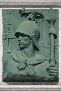 欧洲战士浮雕
