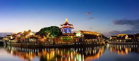 苏州山塘街夜景