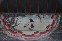 颐和园长廊画喜鹊梅花
