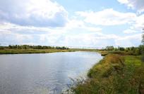 呼兰湿地两岸景色