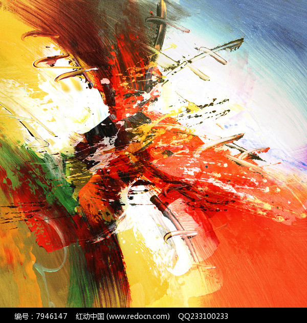 现代风格抽象油画无框画图片