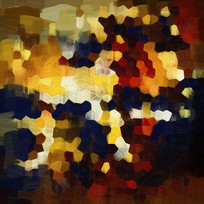 漂亮的抽象油画 色块抽象油画