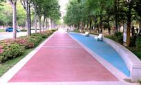 城市休闲广场一角